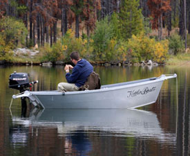 Small Aluminum Fishing Boat White Water Prams Made By