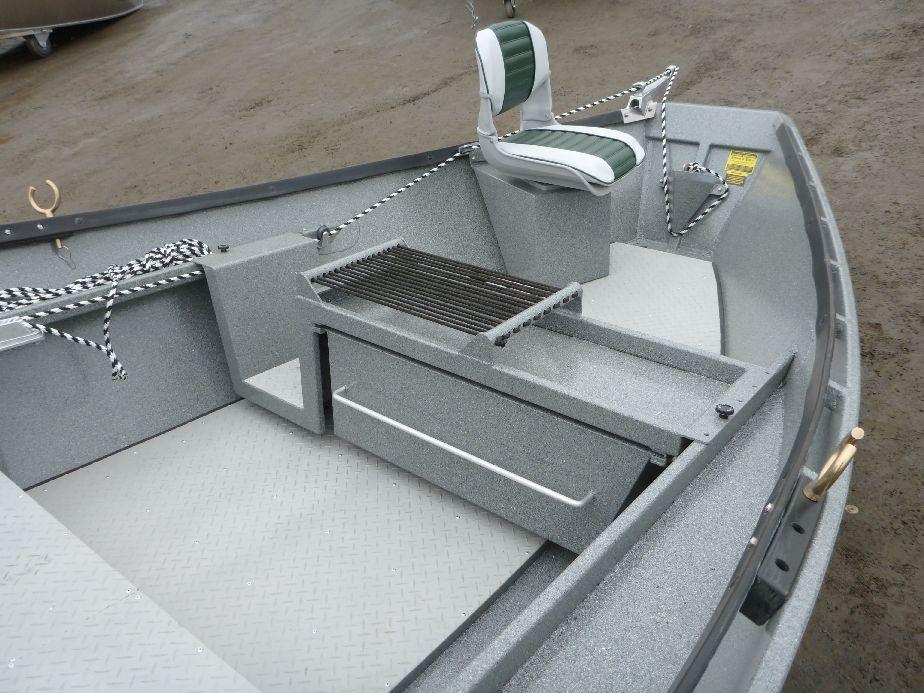 Aluminum 17 39 x 54 koffler high side drift boat koffler for Fish box for boat