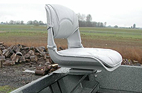 Drift Boat Outboard Operator Seat Options