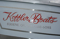 Drift Boat Koffler Sticker Colors