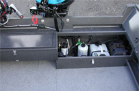 Power Boat Transom Storage Options