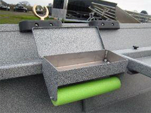 Power Boat Bait Box Open with Leader Roller