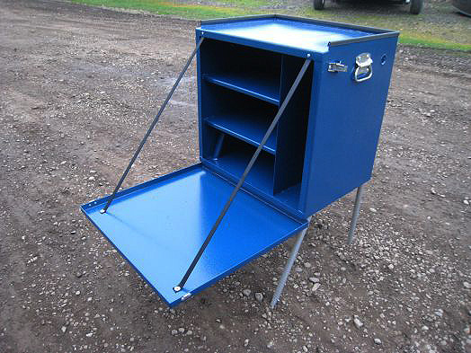 Koffler's Camp Kitchen Blue Assembled (Open)