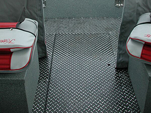 Power Boats Diamond Plate with Gray Zolatone Flooring