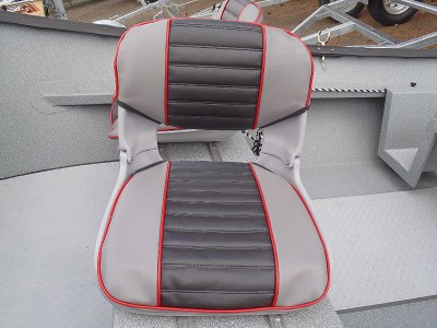 Smoke & Black with Flame Piping Seat Pad