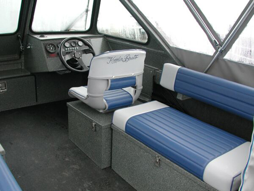 Long Bench With Tempress Captain Seat