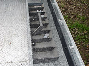 Power Boat Weight Tray Installed