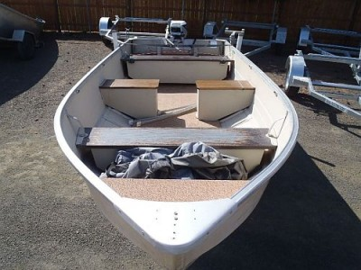 14' USED Mirror Craft Lake Boat Top View