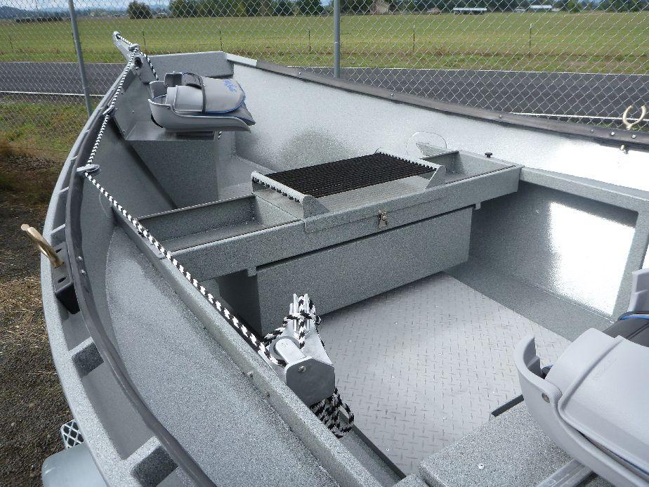 Sliding fish box koffler boats for Fish box for boat