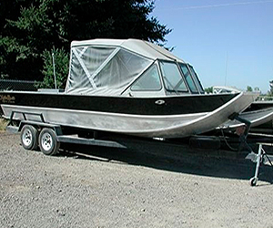 Sled Power Boat Windshield Model