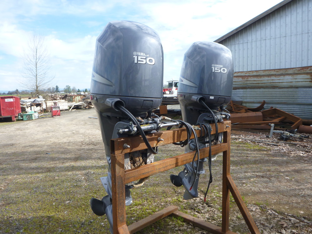 Used twin 150 hp yamaha s koffler boats for Used twin outboard motors for sale