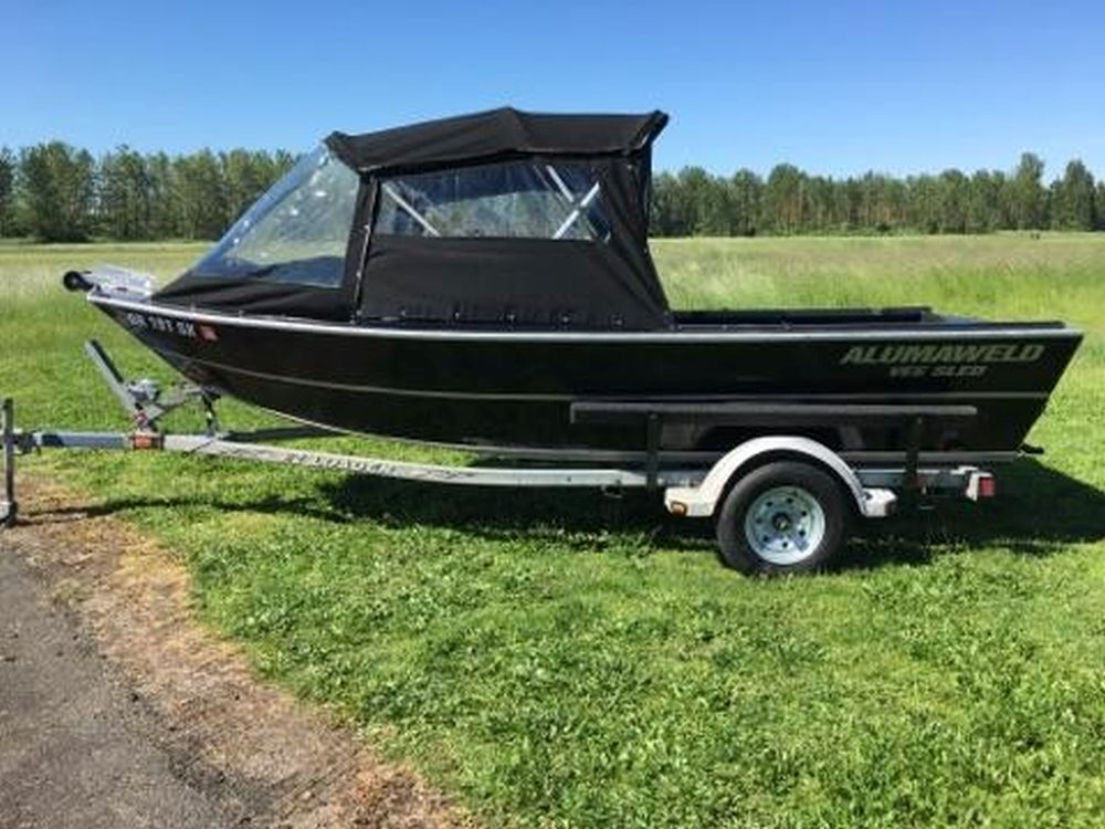 1990 Alumaweld Sled Boat