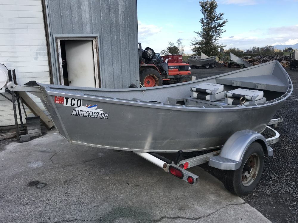 1983 16′ x 54″ Alumaweld Drift Boat